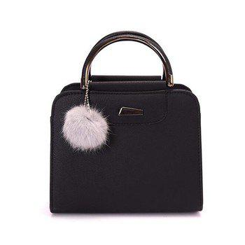 Trendy Women's PU Leather Fashion Wild Top-Handle Bag