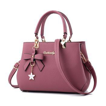 Discount Women Sweet Shoulder Tote Handbag Satchel  Crossbody Bag with Bow Knot Flower
