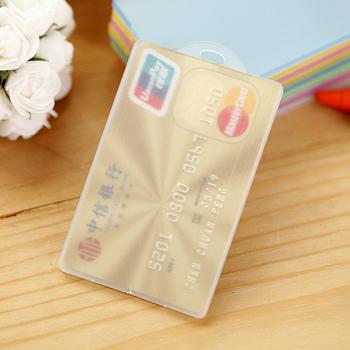 Sale Transparent Frosted Bus Pass Plastic Holder Credit Bank Card Case