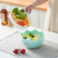 Kitchen Fruit Salad Cutting Bowl Lazy Artifact Plastic Pot with Cover -