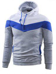 Mooncolour Mens Novelty Block Hoodies Cozy Sport Outwear -