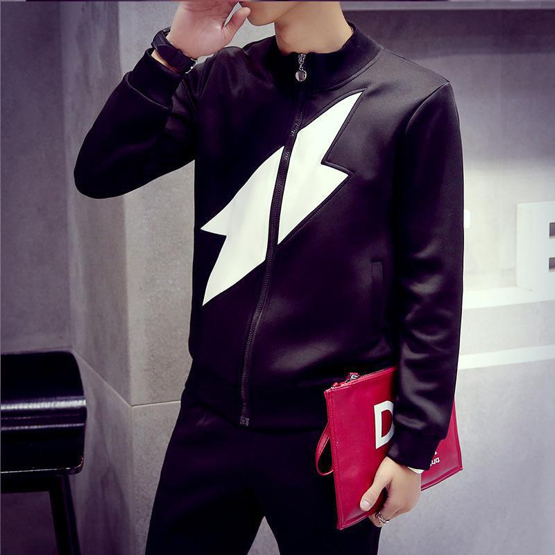 Chic Fashionable Men Stand Collar Jacket