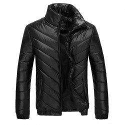 Man Stand Collar Down Jacket -