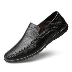 Genuine Soft Flats Handmade Men'S Leather Casual Shoes -