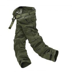 Mens Casual Military Multi-pocket Cargo Pants -