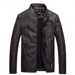Men's leather jacket the main promotion of large yards of foreign trade all year round. -