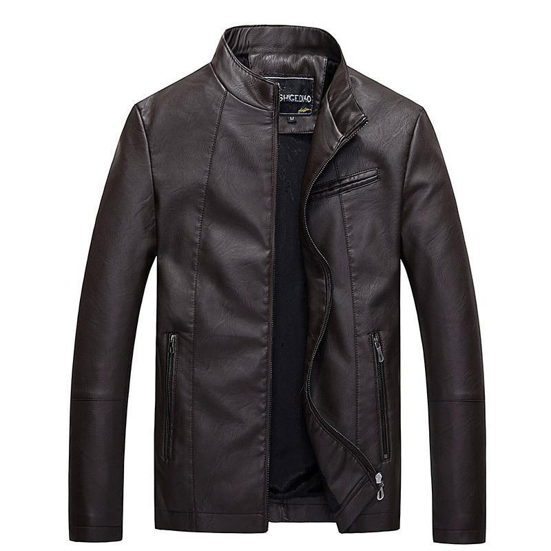 Affordable Men's leather jacket the main promotion of large yards of foreign trade all year round.