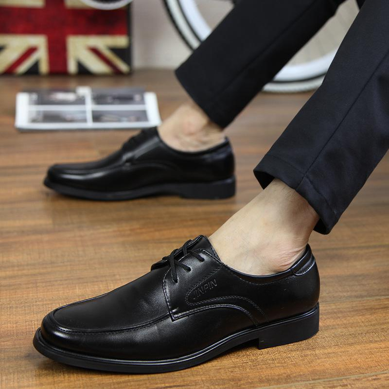 Trendy Men Classic Business Leather Shoes
