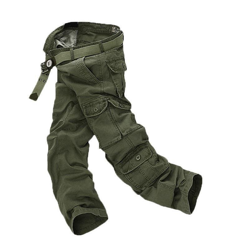 Online Mens Casual Military Multi-pocket Cargo Pants