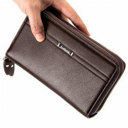 Business Leather Clutch Long Wallet for Men -