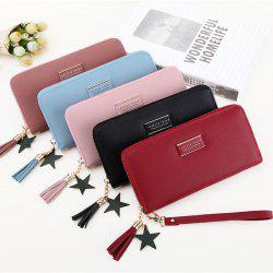 Multifunctional Simple Purse Long Zipper Wallet Money Clutch Bag -