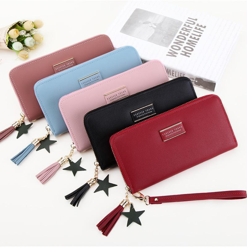 Outfit Multifunctional Simple Purse Long Zipper Wallet Money Clutch Bag