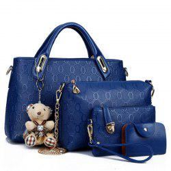 PU Leather Handbags Composite Shoulder Bag for Women -