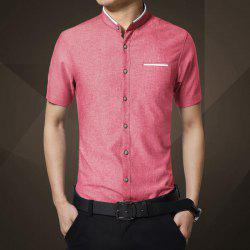 Men's Shirts Short Sleeves Self-cultivation Ironing Wear Version -