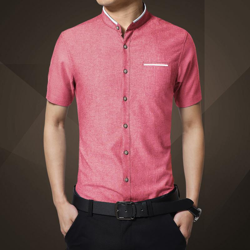 Hot Men's Shirts Short Sleeves Self-cultivation Ironing Wear Version