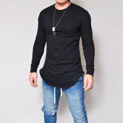 Male Slim Fit Neck Long Sleeve T-shirt -