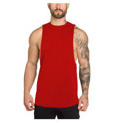 Man Tank Tops SleevelessVest Solid Gym Bodybuilding Fitness Clothing Fit -