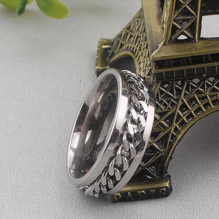 Man Titanium Steel Chain Ring Jewelry Men Rings J-1704