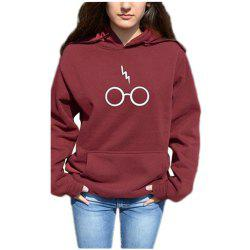 Harry Potter Glasses Lightning Loose Hooded Sweater -