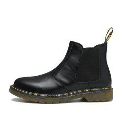 Retro Leather Chelsea Outdoor Casual Ankle Boot Military Shoes for Men -