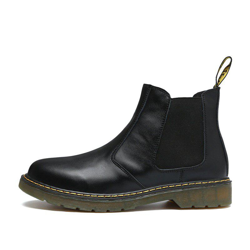Discount Retro Leather Chelsea Outdoor Casual Ankle Boot Military Shoes for Men