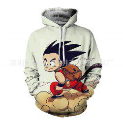 Sweat à capuche avec sept Wukong 3D Dragon Ball -