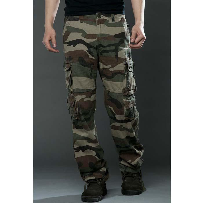 Discount Casual Camouflage Trousers