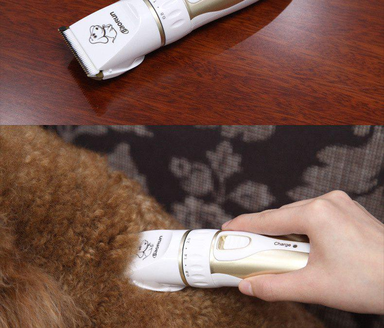 Trendy Dog Hair Clipper Pet Rechargeable Hair Clipper Shaved Dog Hair Beauty Small Large Dog Long Hair Rabbit Pet Supplies