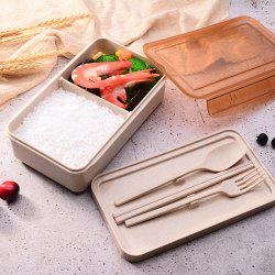 Wheat Straw Tableware Student Portable Compartment Lunch Box Lunch Box Insulation Lunch Box Creative Gift -