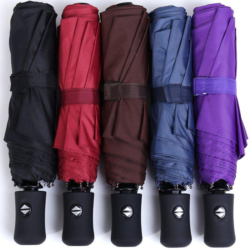 High-grade Automatic Three-fold Umbrella Folding Men And Women Business Umbrella