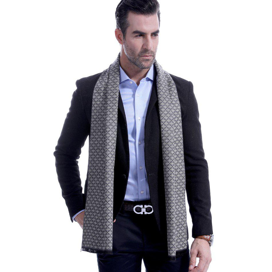 Trendy Autumn Winter Classic Plaid Business Casual Men Scarf