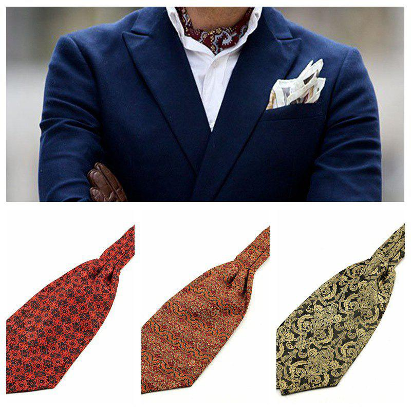 Outfits Fashion Men's Shirt Scarf Jacquard Ascot Scarf