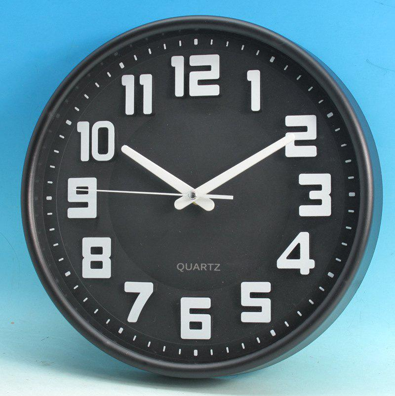 Shop 12 inch Simple Modern Stereo Digital Wall Clock for Living Room / Bedroom
