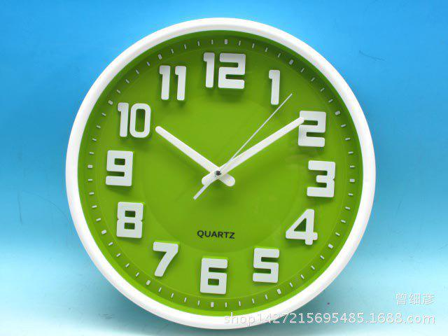 Discount 12 inch Simple Modern Stereo Digital Wall Clock for Living Room / Bedroom