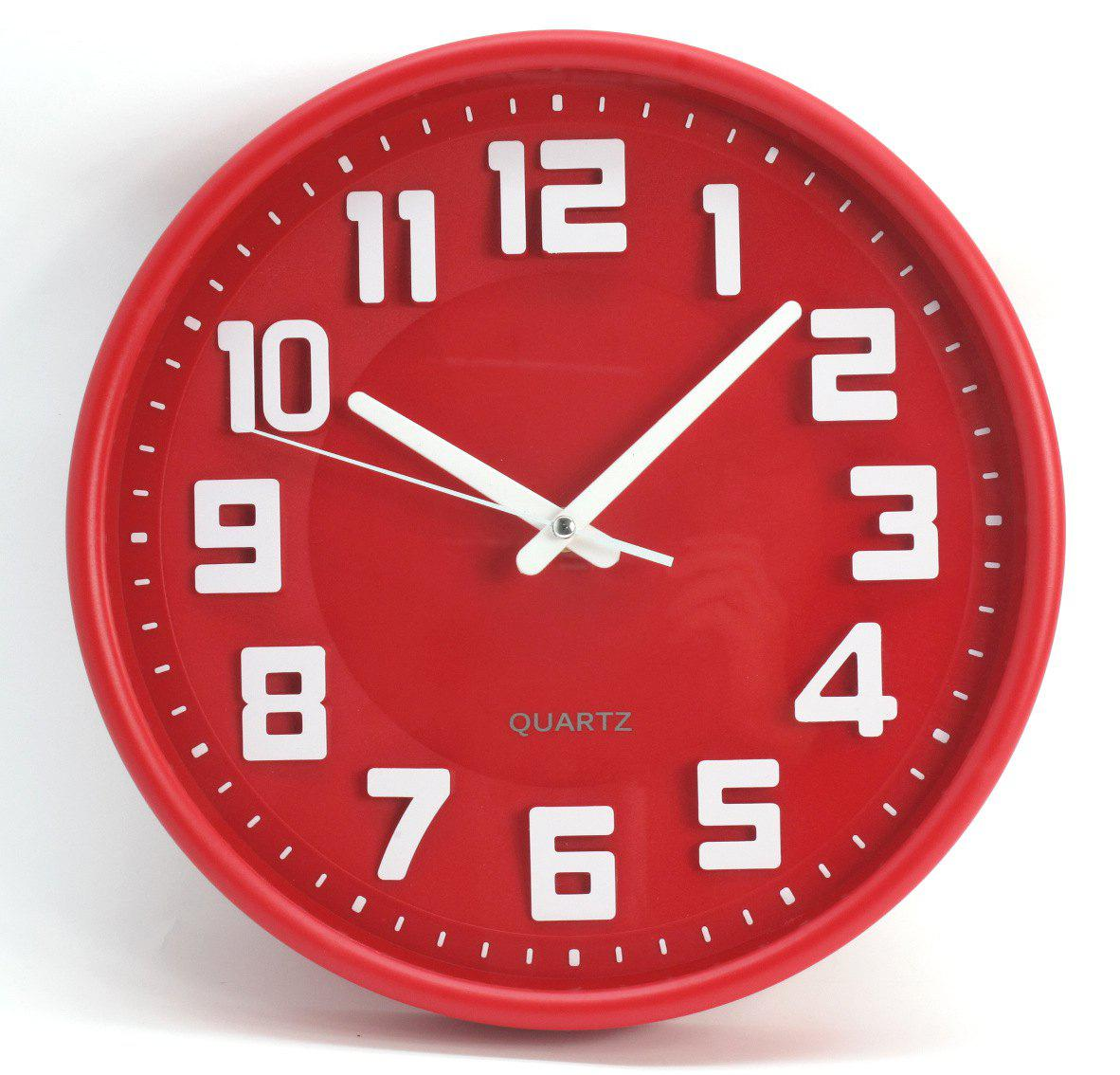 Cheap 12 inch Simple Modern Stereo Digital Wall Clock for Living Room / Bedroom