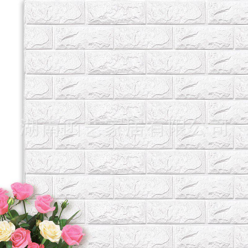 0b58ca0370d Best 3D Stereo Wall Stickers Self-adhesive Wallpaper Brick Bubble Soft Bag  Anti-collision