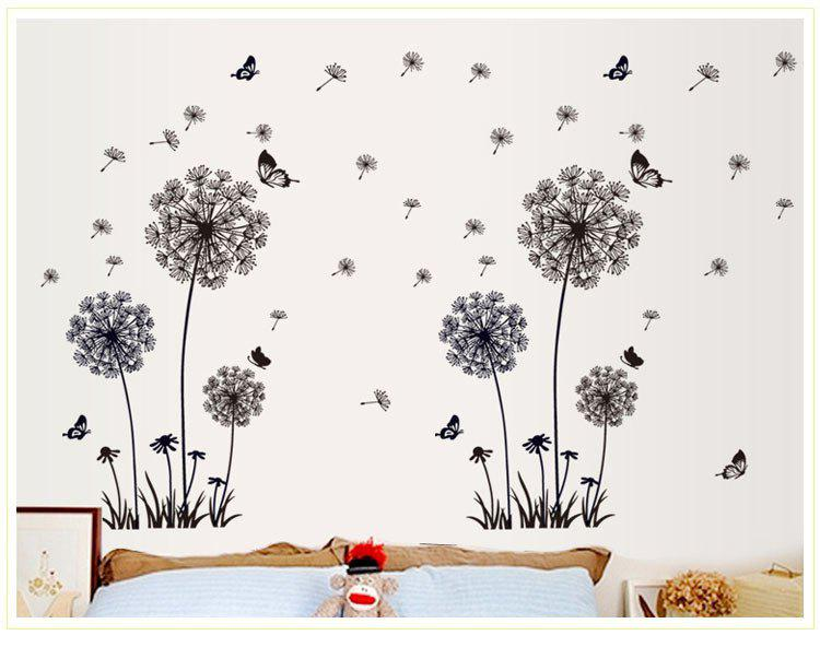 Hot Dandelion Wall Stickers Bedroom Living Room TV Background Wall Home Improvement Art Wall Stickers DF5125