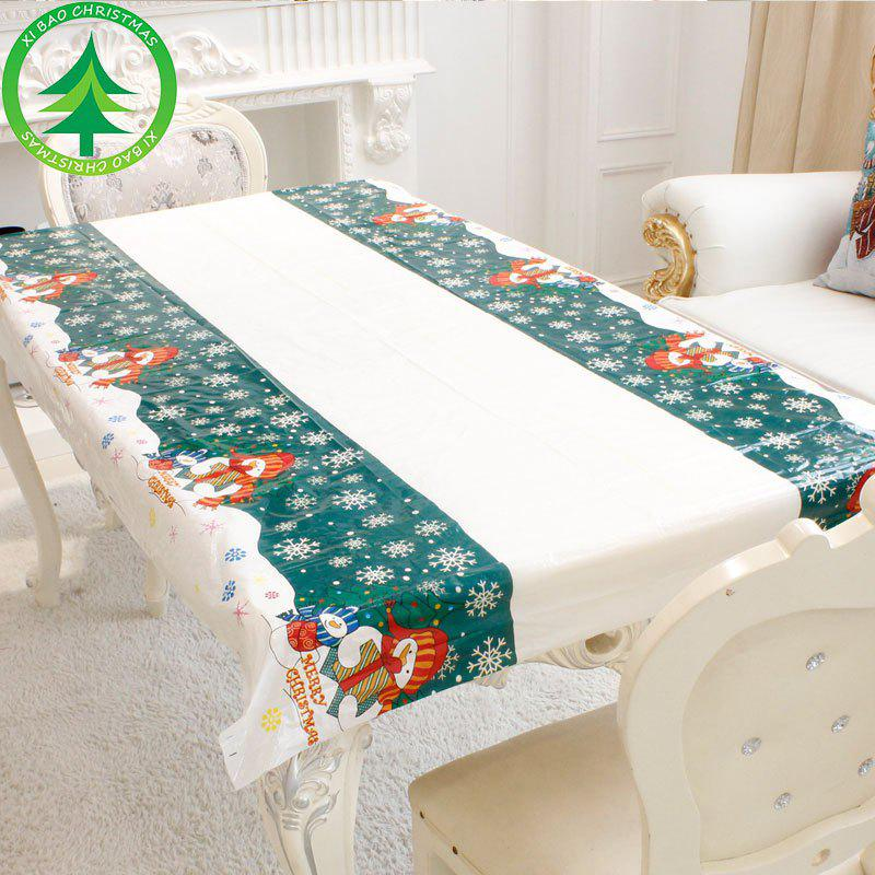 Online Cartoon PVC Tablecloth Christmas Decoration Supplies Tablecloth