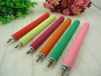 Parrot Brother / Bird's Nest Frosted Rod Grinding Claw Grinding Rod / Standing Bar Bird Cage Pet Supplies Color Toys -