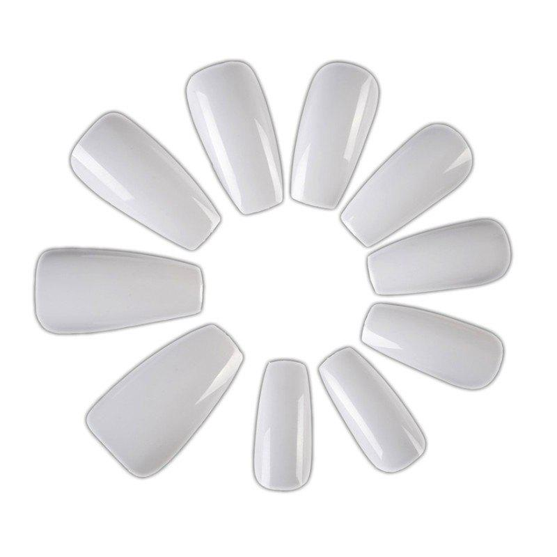 600 Pieces Of Phototherapy Fake Nails Nail Salon A Transparent Ballet Nail Art Manicure Tool Jewelry