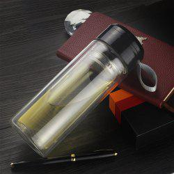 Creative Rope Cover Double Insulation High Borosilicate Glass Water Vacuum Flask -
