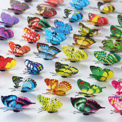 Simulation Butterfly 3D Stereo Home Decoration Wall Stickers 7CM Double Layer Butterfly (20 Pack) Refrigerator Stickers -
