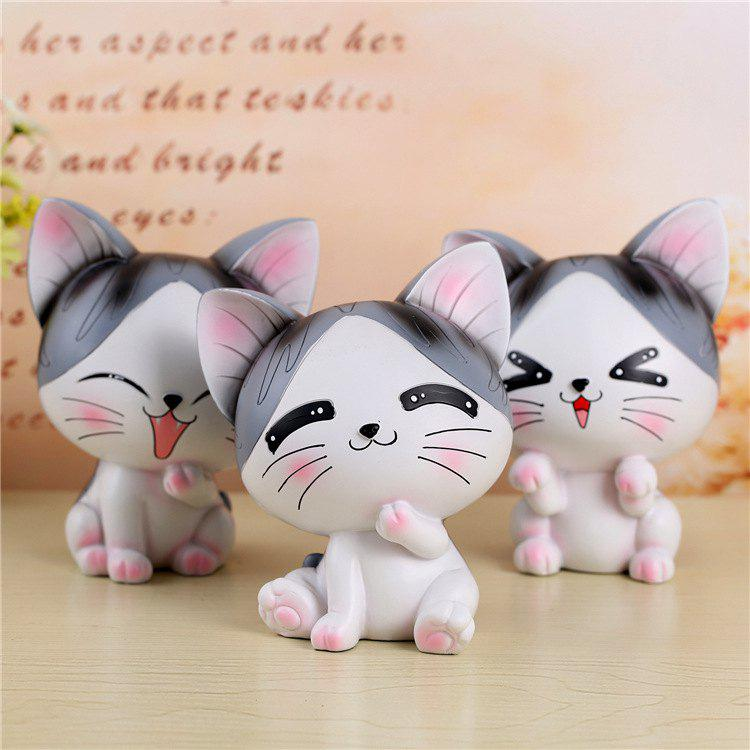 Unique Japanese Style Grocery Creative Couple Sweet Cat Piggy Bank Resin Piggy Bank Student Gift