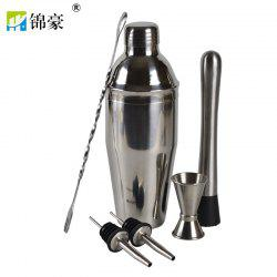 Stainless Steel 750ML New Bartender Cocktail Mixing Tool 6 Piece Set -
