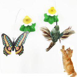 Electric Cat Toy Butterfly Bird Automatic Rotation Funny Cat Toy Funny Cat Stick -