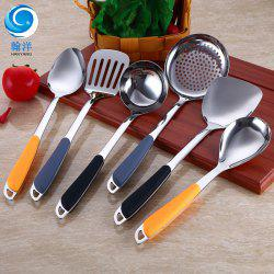 Stainless Steel Spatula Cooking Spoon Shovel Kitchen Seven-piece Soup Spoon Set Gift -