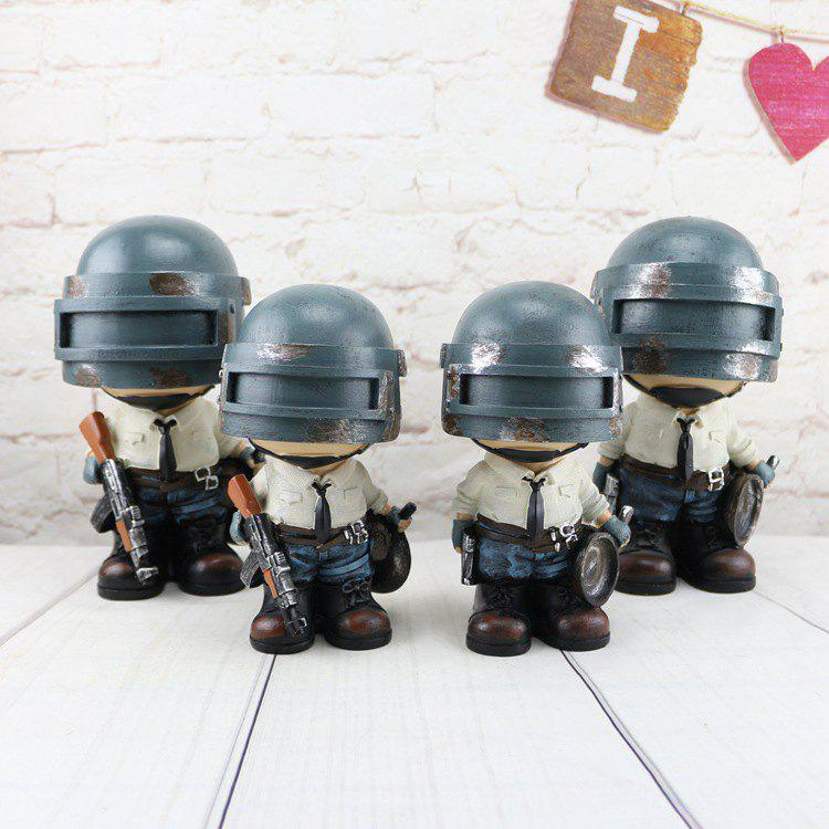 Hot Jedi Survival Hand 98K Military Model Ornaments Eat Chicken Game Doll Piggy Bank Shaking Head Swing