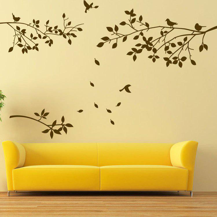 Tree Branch Bird PVC Wall Stickers Background Hand-painted Wall Stickers