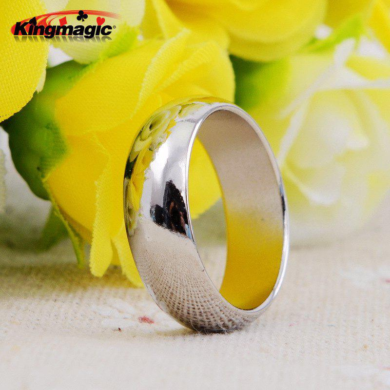 Silver Curved Magnetic Ring Magic Ring Magnet Ring Strong Magnetic Magnetic Ring Magic Props