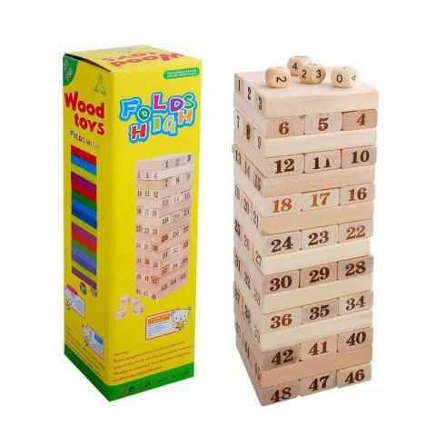 Originales Para Digital Juguetes Layer Jenga Madera Bloques Niños Pile De Educativos Stacking Tower 8wPO0nk
